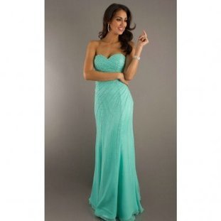 Dazlling Green Long Ruched Beaded Lace Up Evening Dress [Beaded Lace Up Evening Dress] - $177.90 : www.thedresses2014.com | prom dresses | Scoop.it