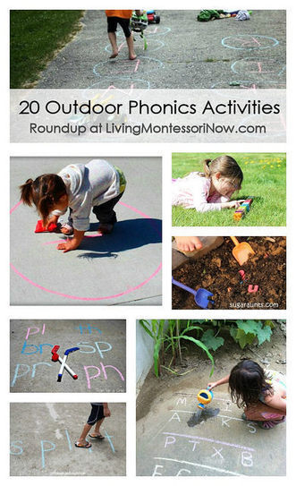 20 Outdoor Phonics Activities | Montessori Inspired | Scoop.it