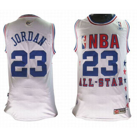 Michael Jordan All Star NBA Jerseys #23 Red White Numbers | my style | Scoop.it