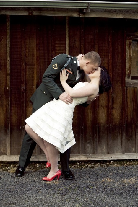 Memorial Day Wedding Inspiration From Military Couples (PHOTOS) - Huffington Post | Weddings | Scoop.it