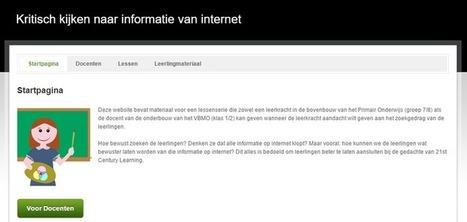 Edu-Curator: Website Gespot! Kritisch kijken naar informatie van internet | Mediawijsheid PO | Scoop.it