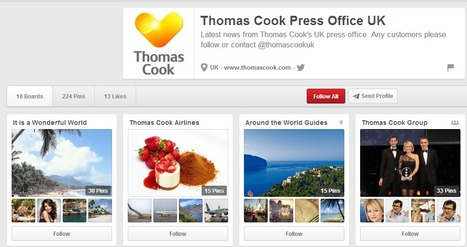 PINTEREST and Social Media CASE STUDY - Thomas Cook | Pinterest for Business | Scoop.it