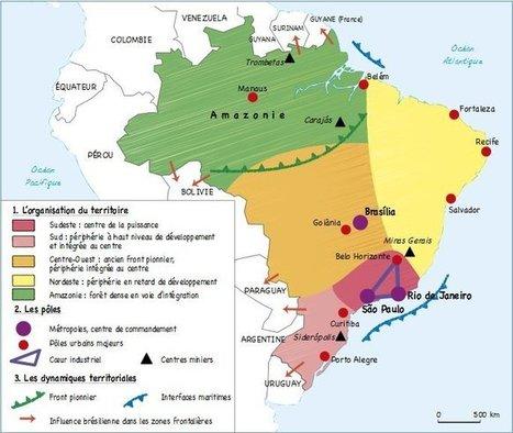 Organisation du territoire et dynamiques territoriales au Brésil « Histoire Géographie | Croquis et Schémas pour la Première et la Terminale | Scoop.it