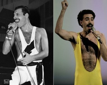 Freddie Mercury and Sacha Baron Cohen – Celeb Look-Alikes | #classicrock | Scoop.it