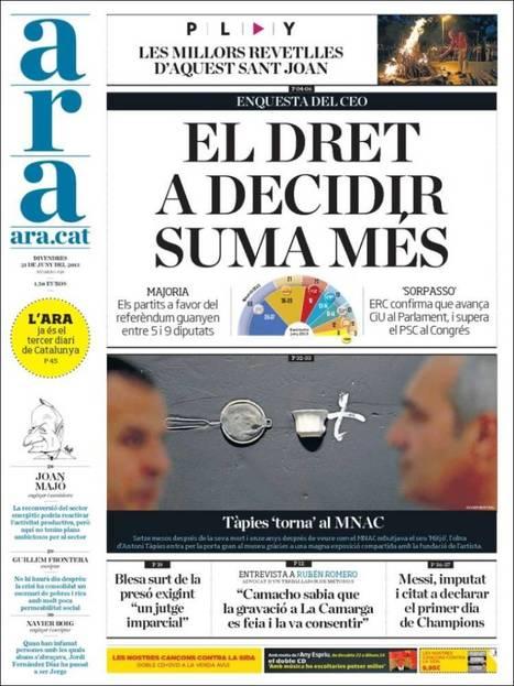 Portades de la Premsa Catalana d'Avui - Divendres 21.06.13 | AC Affairs | Scoop.it