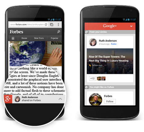 #GooglePlus ajoute les recommandations pour les sites mobiles | Social media | Scoop.it