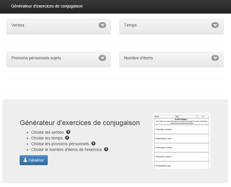Générateur d'exercices de conjugaison | Time to Learn | Scoop.it