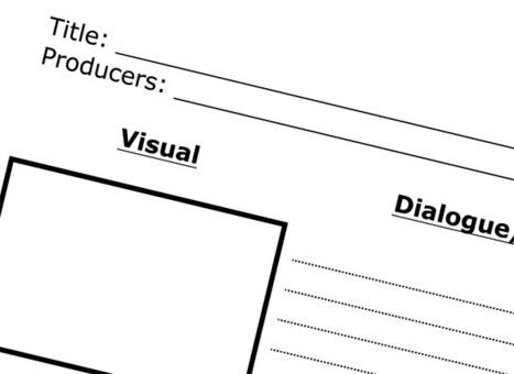 Storyboarding Sheet | NAMLE | Media literacy | Scoop.it