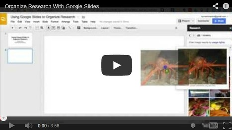 How to Use Google Slides to Organize Research | Engage Your Audience - Activities | Scoop.it