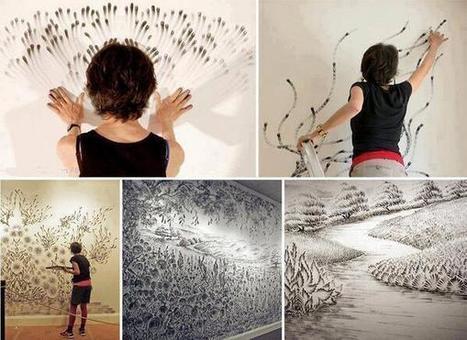 Twitter / IlusionOpticaEs: Arte con las manos ... | Artistica visual en la escuela | Scoop.it
