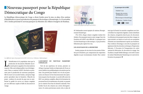 Un passeport biométrique pour le République Démocratique du Congo - Semlex Group | Semlex Group | Scoop.it