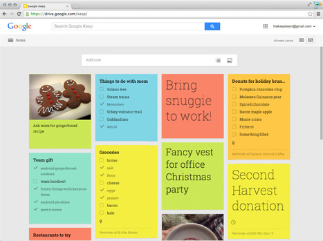 Google Keep for web updated with colorful design and streamlined tools | Incion Web Design Blog | Scoop.it