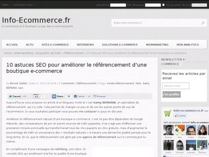 10 astuces SEO pour améliorer le référencement d'une boutique e-commerce | seo | Scoop.it