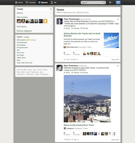Twitter expands the Discover tab to deliver more relevant tweets | Collective Intelligence & Distance Learning | Scoop.it