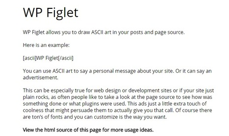 WP Figlet | Prelovac.com | ASCII Art | Scoop.it