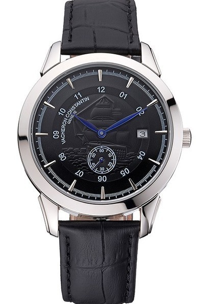 Replica Vacheron Constantin Traditionnelle Black Ship Dial Black Leather Strap | Men's & Women's Replica Watches Collection Online | Scoop.it