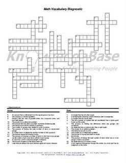 Reach - Then Teach: Math Crossword Puzzle Language Diagnostic   Math education for the new millenium   Scoop.it