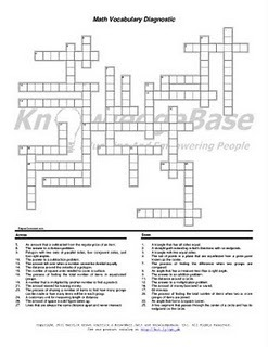Math Crossword Puzzles With Answers For High School ...
