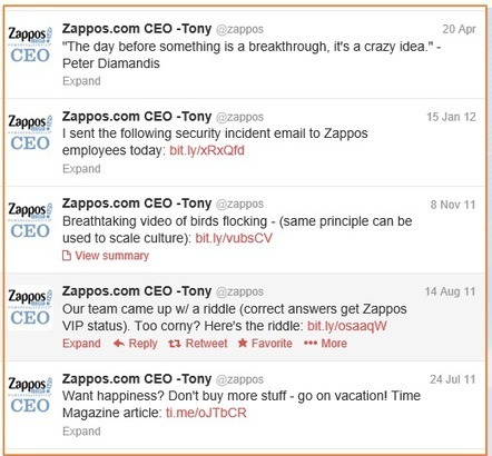 Zappos Social Innovation | Great Writing Meets Social Media | Scoop.it