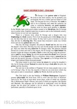 iSLCollective.com - Free ESL worksheets | Worksheets / St George's Day | British life and culture | Scoop.it