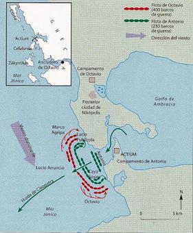 La ¿decisiva? batalla de Actium | Griego (y Latín) en el Sierra | Scoop.it