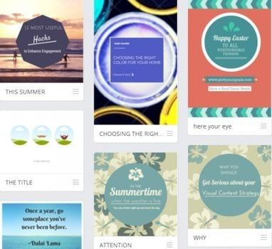 5 applications à connaître pour votre stratégie de contenus visuels | E-marketing | Scoop.it