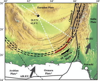 EPSL - Ball-and-socket tectonic rotation during... | Geography | Scoop.it