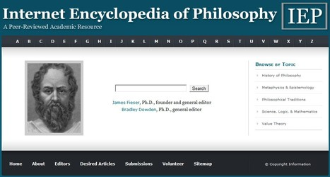 Internet Encyclopedia of Philosophy | Teaching in Higher Education | Scoop.it