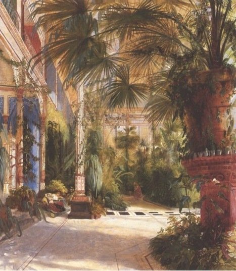 "Carl Blechen ""Interior of the Palm House"" 