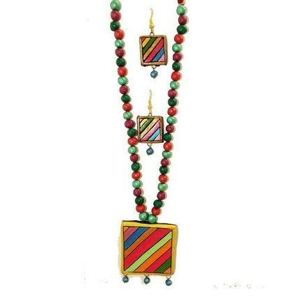 Terracotta Necklace - Multicolored | Women's Fashion & Jewellery Shopping | Scoop.it