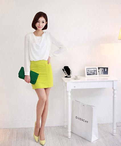 Phối mix đồ với chân váy vàng chanh|Tin tức, Xu hướng thời trang|shopthoitrangxinh.net | Noithatmax.com | Scoop.it
