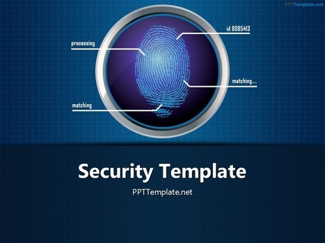 Free Finger Print Circle 1 PPT Template | Free PPT Templates | Scoop.it