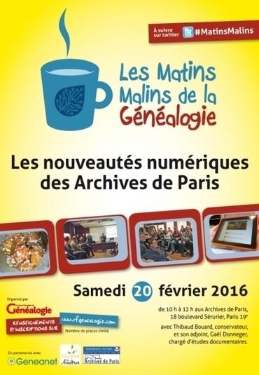 Matins Malins : Les nouveautés numériques des Archives de Paris | Au hasard | Scoop.it