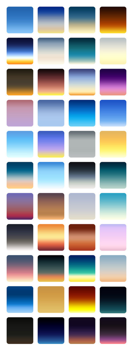 GraphicsFuel.com | 44 Realistic Sky Gradients For Photoshop | Free ps brushes for commercial use. | Scoop.it