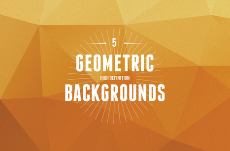 5 High Definition Geometric Backgrounds | Best PSD Freebies | Social Media Posts | Scoop.it