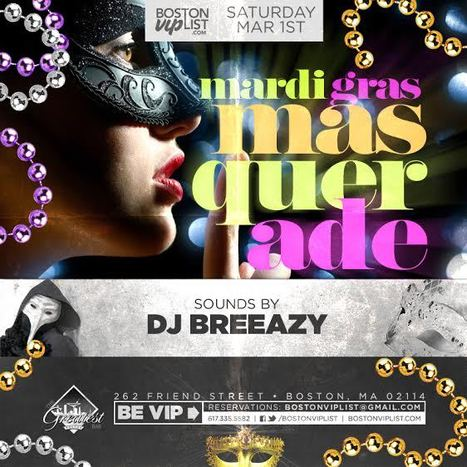 Mardi Gras Masqueraede @ Greatest Bar | Boston Nightlife | Scoop.it
