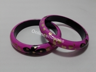 Wooden Bangles - Pink | Ca221 | Centenarian Art Crafts Buy Online Free Shipping Cod Onlineshoppee Buy Online Wooden Products | Onlineshoppee | Scoop.it