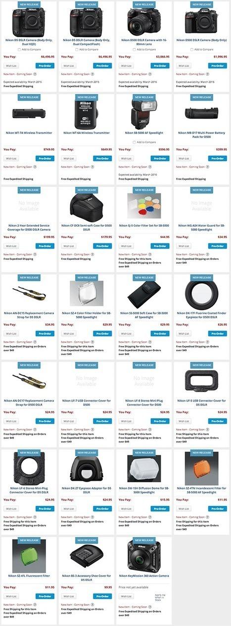 cremilliard et le nouveau D500 (qui remplace le D300) coûte plus cher qu'un D600 ou que le D700 à l'époque ... ça pique les prix chez Nikon en ce moment !! | 100% e-Media | Scoop.it