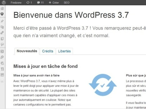 WordPress 3.7 est disponible ! | Les trouvailles de Froggy'Net | Scoop.it