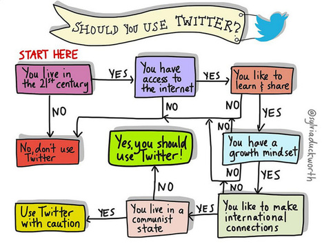 Should Teachers Use Twitter? This Flowchart Says Probably | Aladin-Fazel | Scoop.it