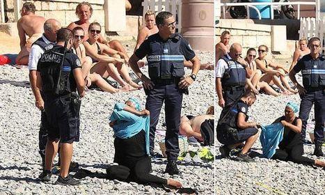 Armed police order Muslim woman to remove burkini on packed Nice beach | Econopoli | Scoop.it