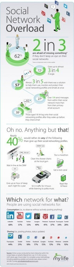 Do You Suffer from Social Network Overload? [INFOGRAPHIC] | Social Media scoops by Rick Maresch | Scoop.it