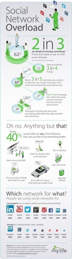 Do You Suffer from Social Network Overload? [INFOGRAPHIC] | Didactics and Technology in Education | Scoop.it