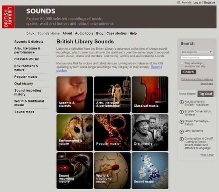 80 000 fichiers audio sur le site de la British Library | Les Infos de Ballajack | Kiosque du monde : A la une | Scoop.it