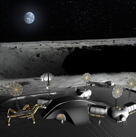 A 3D-printed Moon base baked from lunar dust | KurzweilAI | leapmind | Scoop.it