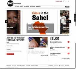 Simplicity in Home-Page Design: One.org - Redesigning Good - The Chronicle of Philanthropy- Connecting the nonprofit world with news, jobs, and ideas | Philanthropy Means, Mechanisms & Motivations | Scoop.it