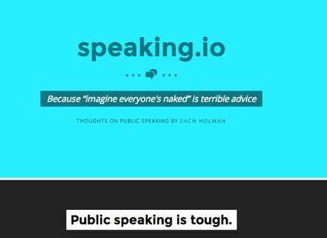 Tips for Public Speaking | Pedagogy | Scoop.it