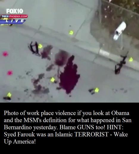 Islamic jihad in America ......  Obama & Hillary .. it's WORKPLACE VIOLENCE - BLAME GUNS! | Criminal Justice in America | Scoop.it