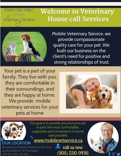 Home Call Veterinary Services | Mobile Vet Service provides complete range of Veterinarian services at-home | Scoop.it