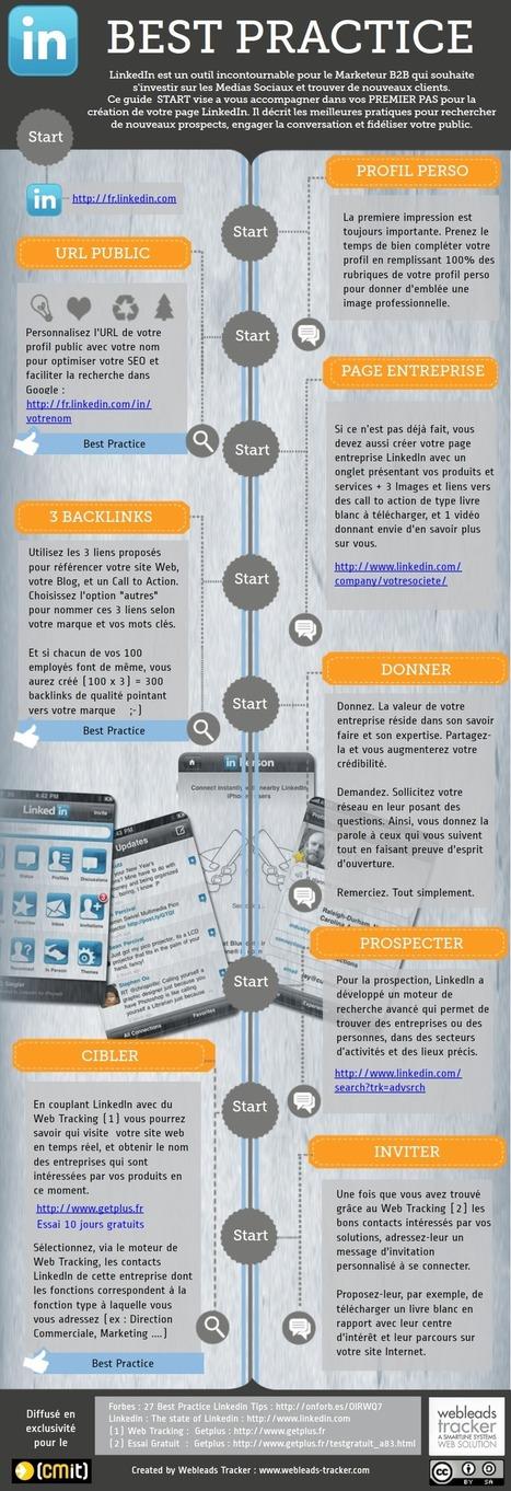 Bonnes pratiques Linkedin [Infographie] | Agence 1min30, Inbound marketing et communication digitale à Paris | Digital Martketing 101 | Scoop.it